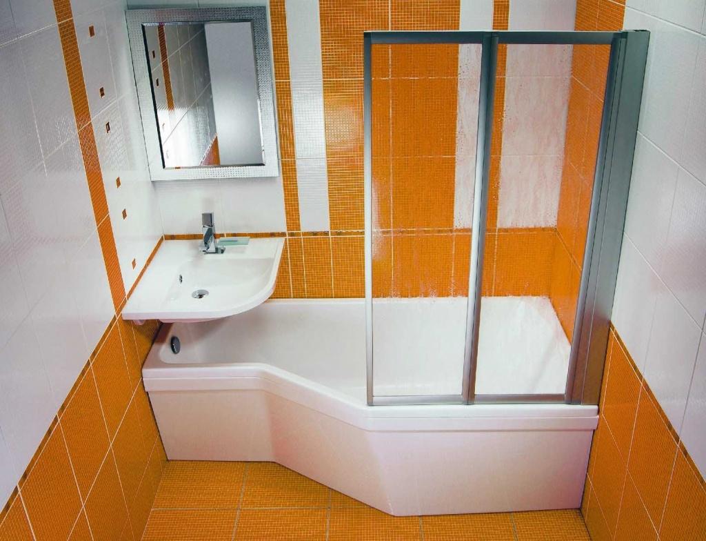 маленькая ванная комната углы
