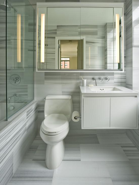 маленькая ванная комната зеркало 2