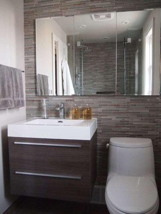 маленкая ванная комната зеркало