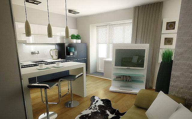 дизайн маленьких квартир минимализм 2