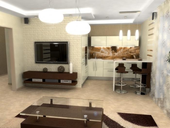 дизайн маленьких квартир освещение 3