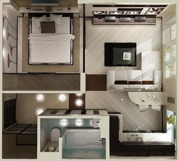 дизайн маленьких квартир отделка