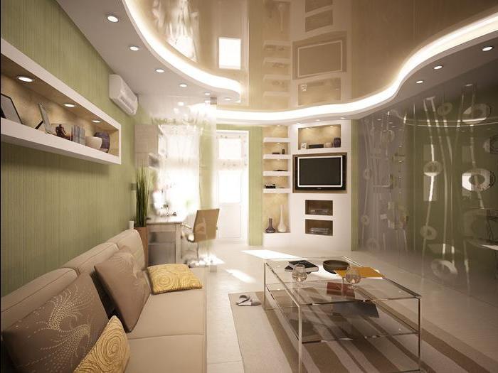 дизайн маленьких квартир потолок