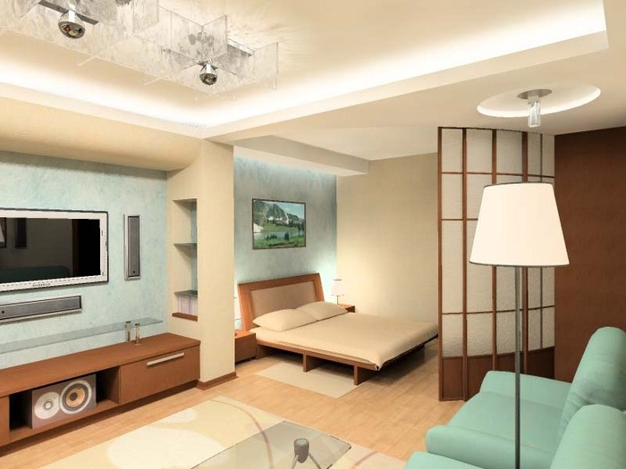 дизайн маленьких квартир цвет 2