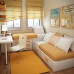 дизайн маленьких квартир цвет 4
