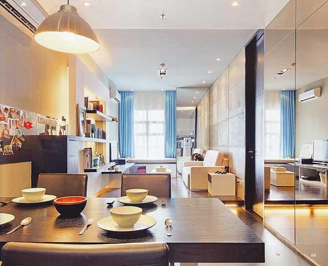 дизайн маленьких квартир зеркало
