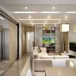 дизайн маленьких квартир зонирование 2