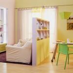 дизайн маленьких квартир зонирование 3