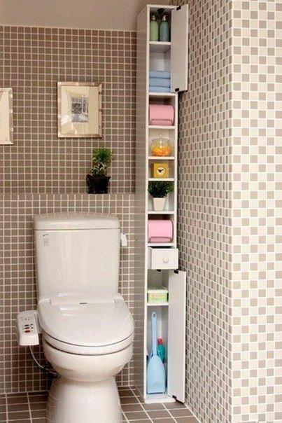 маленький туалет хранение 2