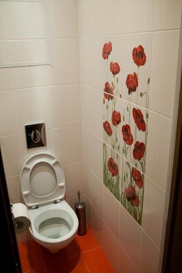 маленький туалет плитка