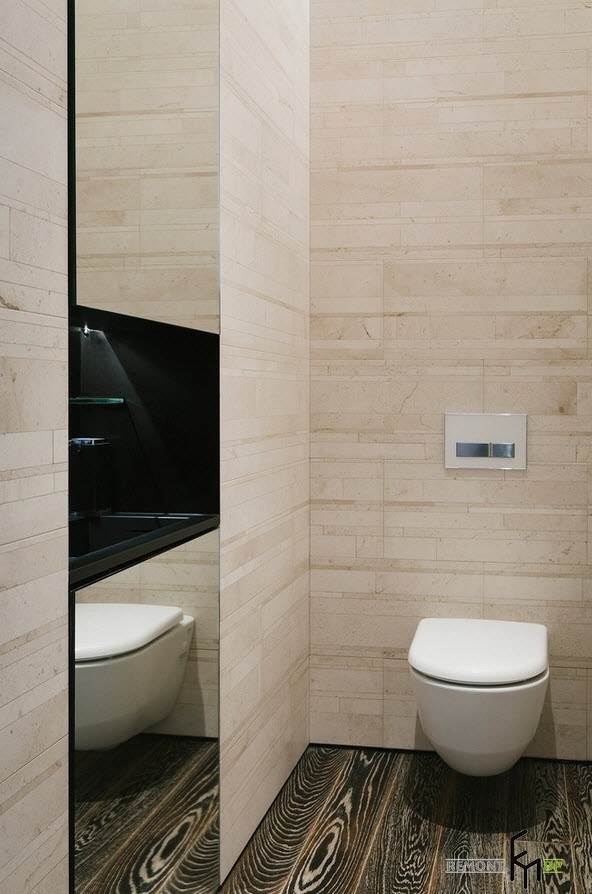 маленький туалет зеркало 2