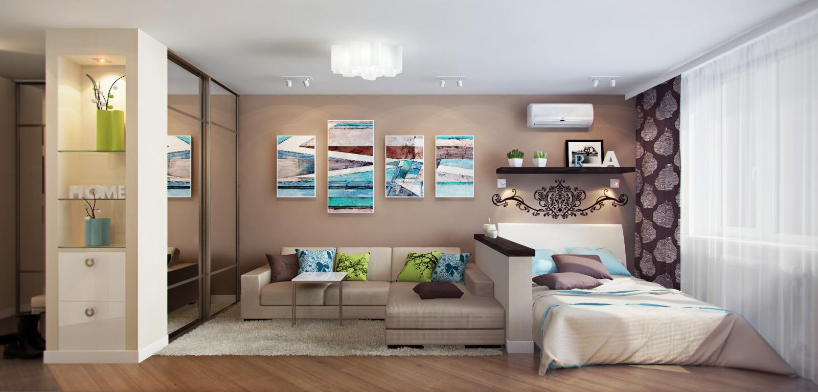 мебель для спальни зонирование