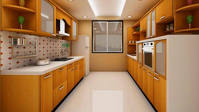кухня планировка двухлинейная