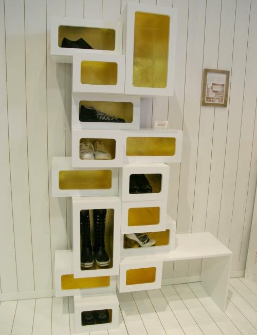 мебель для прихожей хранение обуви 4