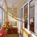 отделка балкона камнем 2