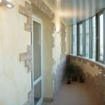отделка балкона камнем 5