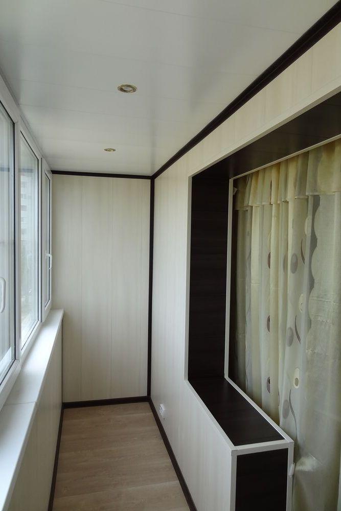 отделка балкона мдф панелями 2