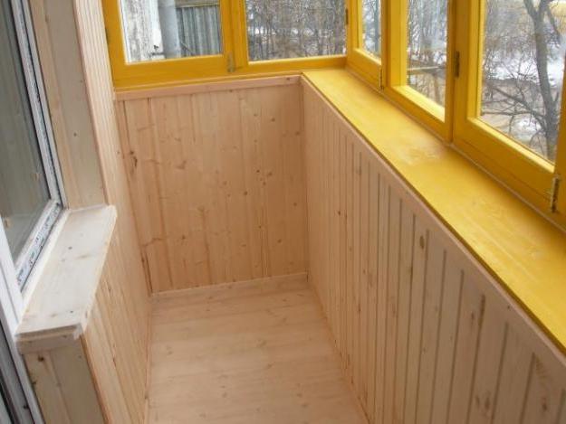 отделка балкона мдф панелями 3