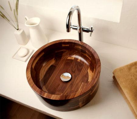 умывальник для ванной деревянный
