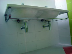 Правильная установка умывальника: подвесного, накладного (настольного), напольного