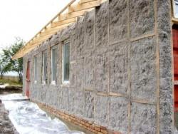 утепление стен дома эковатой