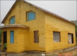 утепление стен дома пенополиуретаном 2
