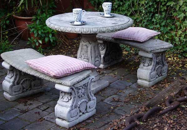 бетонная мебель для дачи и сада