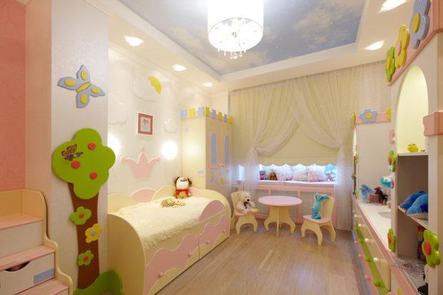 интерьер маленькой детской комнаты мебель 3