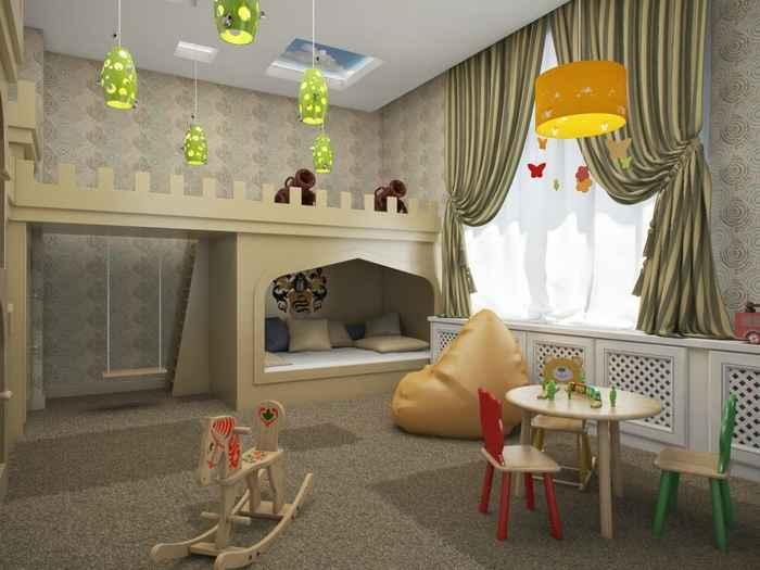 интерьер маленькой детской комнаты мебель 4