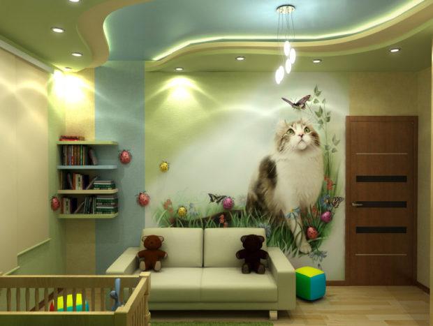 интерьер маленькой детской комнаты цвет 2