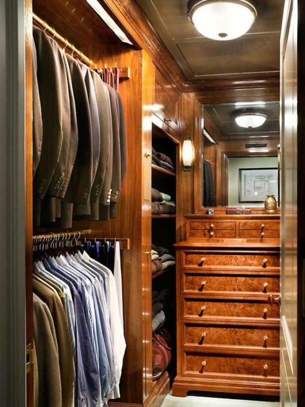 9 советов по дизайну маленькой гардеробной в квартире + фото