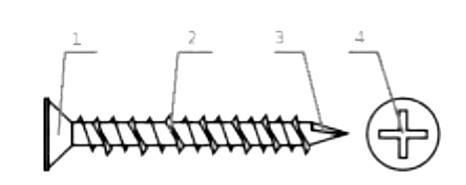 схема строения самореза