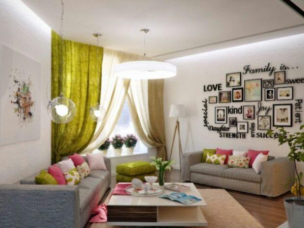 10 советов по оформлению контрастной акцентной стены в интерьере фото