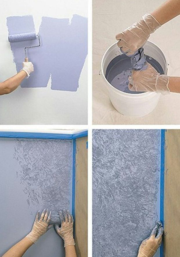 Окраска с помощью ткани