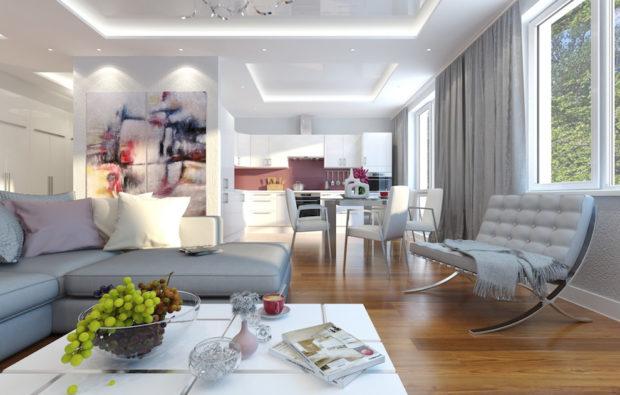 7 советов, как сделать низкий потолок в доме выше: дизайн низких потолков + фото