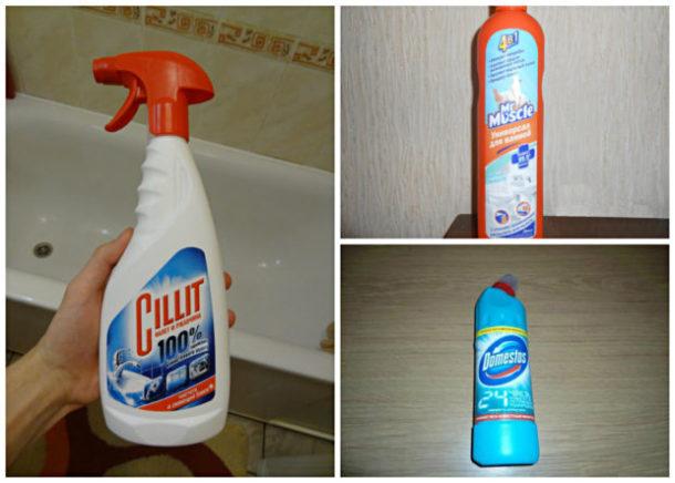 Специальные средства для чистки плитки