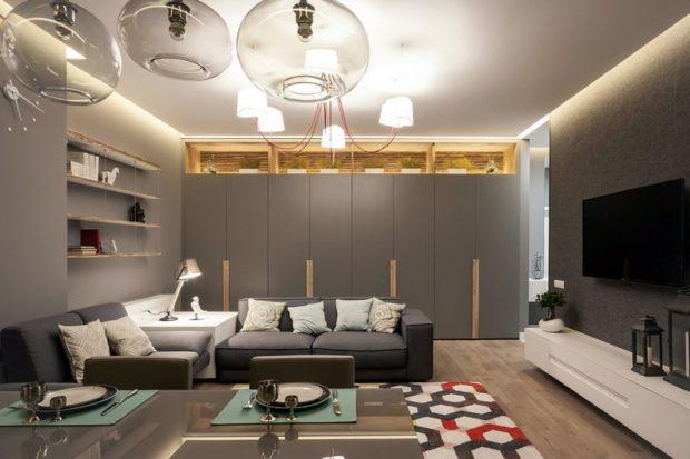 7 советов по дизайну большой комнаты в квартире + фото интерьеров
