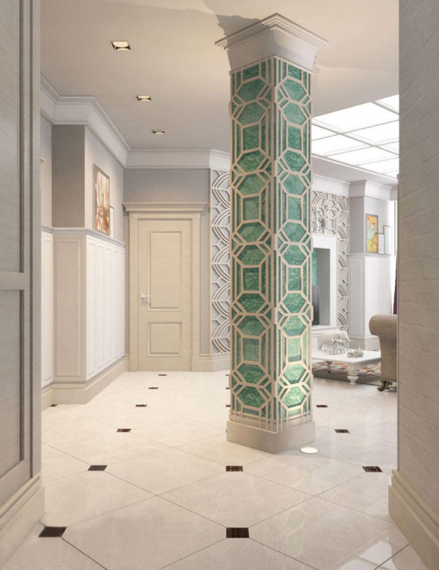 6 советов по оформлению колонн в интерьере квартиры: материалы, дизайн, фото
