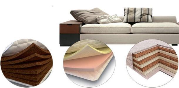 Различные типы наполнителей для диванов