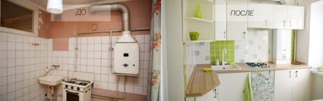 6 советов, как спрятать газовую трубу на кухне фото