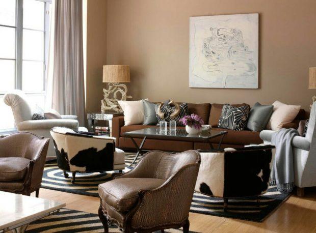 6 советов по использованию коричневого цвета в интерьере + фото