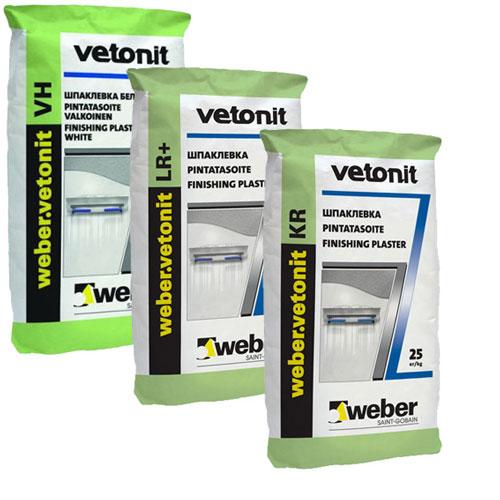 Шпаклёвки и сухие строительные смеси Weber-Vetonit