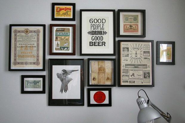 12 способов, как повесить на стену без гвоздей картину, рамку, плакат или декоративную тарелку
