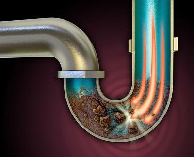 Засор колена канализационной системы