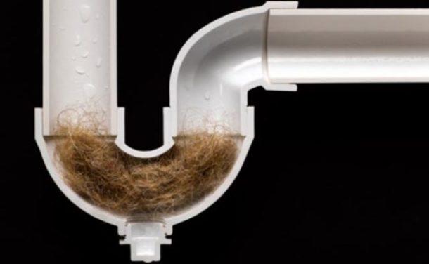 Засорился сифон в ванной волосами