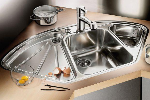 10 советов по выбору кухонной мойки из нержавейки: размеры, форма, тип установки