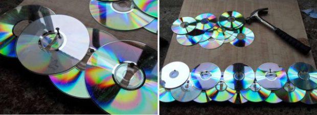 9 идей поделок из компакт-дисков своими руками для сада и дачи фото