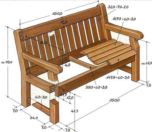 6 советов, как сделать садовую скамейку для дачи своими руками + фото