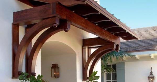 Козырек над крыльцом из дерева: 5 советов по выбору конструкции и изготовлению