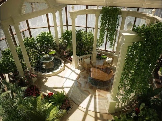 Зимний сад в частном доме: 14 советов по обустройству своими руками фото